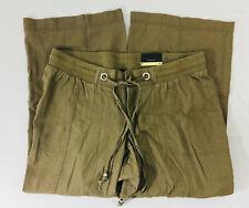 P16 Womens Lane Bryant Stretch Pants Sz 14P Cargo Draw String linen