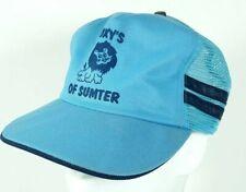 Vintage Roxy's of Sumter Blue Side Stripe Mesh Snapback Trucker Hat Cap USA MADE