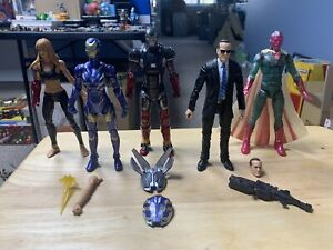 Marvel Legends MCU Iron Man Coulson Vision Pepper - Lot Of 5 Figures - USED