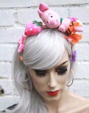Piglet Toy Strawberry Kawaii Lolita Pastel Goth Alice Band Festival Headband
