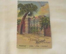 Vintage 1930s Unsent Postcard Sword Iron Gate Charleston Henry's Restaurant