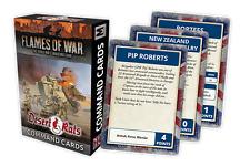 Flames of War BNIB Desert Rats Command Cards FW241C