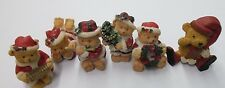 Christmas Cake Toppers Set of 6 Quaint Teddy Bear Cake Toppers Cake Decorations
