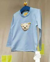 🐻 STEIFF ♡ Langarm Shirt ♡ Longsleeve ♡ Quietschbär ♡ 104 ♡ hell blau ♡ T-Shirt
