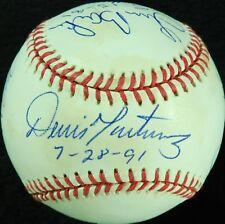 Randy Johnson David Wells Dennis Martinez Perfect Game Signed Baseball Beckett