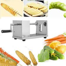 Cortador de Patatas Vegetables Verdura en Forma Espiral Máquina Acero Inoxidable
