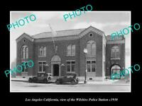 OLD POSTCARD SIZE PHOTO OF LOS ANGELES THE LAPD WILSHIRE POLICE STATION c1930
