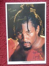 Lennox Lewis ' Boxer ' Autographed Photo