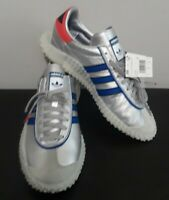 Men's Adidas Country X Kamanda Micropacer Metallic Silver Blue Red Size 9 EF5546