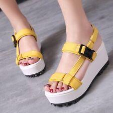 Ladies Girls Platform Sandals Hook Wege Heel Summer Ankle Strap Streetwear Shoes
