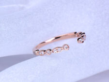 1Ct Round Cut Simulnt Diamond Open Eternity Engagement Ring Silver Rose Gold Fns