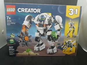 New LEGO Creator 3-in-1 31115 Space Mining Mech 7+ 327 pcs Sealed Building Toy