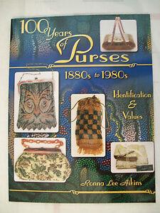 MESH BEADED PURSES & HANDBAGS 100 YEARS Price Guide BOOK Chatelaines 1880 -1980