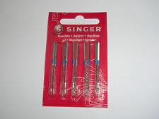 10 GENUINE SINGER 14U OVERLOCKER SEWING MACHINE NEEDLES TYPE 2054 16X75  90/14