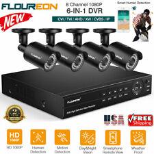 6-in-1 8Ch 1080P Cctv Security System 2Mp 3000Tvl Ahd Video Surveillance Camera