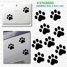 Huellas perro kit footprint dog X9 mascota Vinilo adhesivo Pegatina Sticker