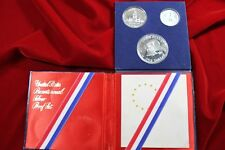 1776-1976 UNITED STATES BICENTENNIAL SILVER 3 COIN PROOF SET,.