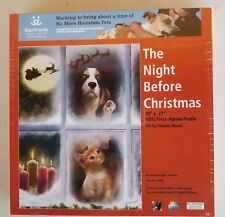 The Night Before Christmas Jigsaw Puzzle SunsOut #28696 1000 pcs 20 x 27 Sealed