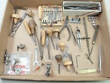 LARGE LOT OF ANTIQUE WATCHMAKER POCKET WATCH JEWELERS REPAIR TOOLS