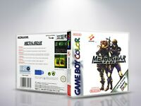 Metal Gear Solid - GameBoyColor - Replacement - Cover / Case - (NO Game) - PAL