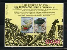 Guatemala 1976  Earthquake  maps  destruction  sheet     MNH  M795