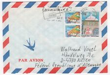 1987 TUNISIA Air Mail Cover SOUSSE to AHLEN GERMANY Slogan PAIR