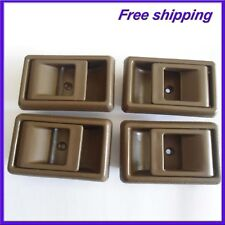 New Inside Inner Left Right Side Door Handle Brown For 95-00 Toyota Tacoma 4Pcs