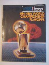 1984 NBA WORLD CHAMPIONSHIP PLAYOFFS OFFICIAL PROGRAM MAGAZINE - BOX BPR2