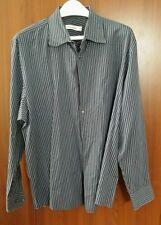 Calvin Klein Men's M 100% Cotton, Classic,Striped, Button Front L/S Shirt XL