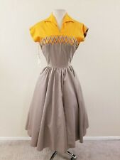 50's Vintage Women's Marion McCoy Cotton Deadstock Day Dress- 38-30-40