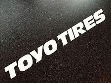 TOYO TIRES XXL Taille Matte White Track Autocollant Voiture 100 cm-speedhunters LOOK!