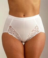Ladies XXL 44-46in hip Light Control Knickers Panty Girdle support Briefs White