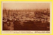 cpa MAROC FEDALA MOHAMMEDIA Le PORT Harbour BATEAUX BALANCELLES Fishing Boats