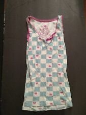 Delia's Girls Checkered White and Blue Shirt Size-XS
