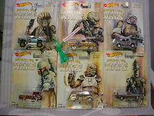 2017 Hot Wheels Pop Culture STAR WARS☆Bounty Hunter Set of 6:SILVERDO,FORD,CHEVY