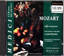 MOZART- Medici String Quartet- CD- Clarinet Quintet/The Hoffmeister- Jack Brymer