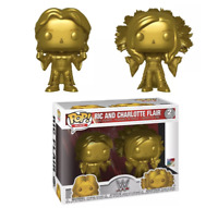 Funko POP! WWE Exclusive RIC AND CHARLOTTE FLAIR 2 Pack in Gold SDCC 2019
