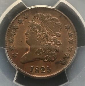 1825 classic head Half cent, Pcgs XF 40 , scarce
