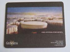 Beer Pub Coaster ~ GUINNESS & Co Stout ~ 1987 Iceberg Poster ~ Dublin, IRELAND