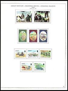 JERSEY 1980-81 ISSUES ON 3 PAGES (LHM/UHM) *CLEAN & FRESH*