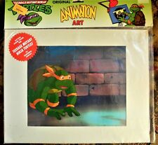 Tmnt Teen Age Ninja Turtles Original Animation Art Cel great pose Michelango