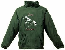 PERSONALISED PRINTED ICELANDIC HORSE REGATTA RIDING JACKET WATERPROOF DESIGN 2