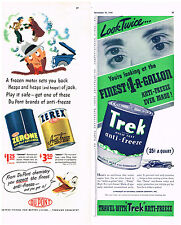 3 Brands Antifreeze Vintage Nor Way Du Pont Trek Magazine Advertisment Ad 1940s
