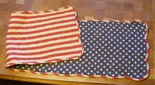 "Great Finds ""Betsy""  Stars & Stripes Quilted Table Runner   ~  FREE SHIPPING"