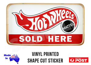 Hot Wheels Sold Here Vintage Repro Sticker Decal 185mm x 100mm