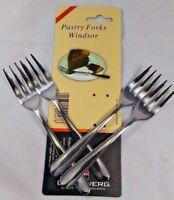 Set of 8 15cm Stainless Steel Pastry Forks Afternoon Tea Cake Dessert Pudding GR