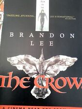 The Crow Brandon Lee Horror Film Advertisement Film Movie Mag A4 Poster