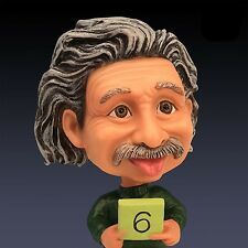 "5"" Albert Einstein Bobble Head Cartoon Scientist Doll Action Figure Statue Toys"