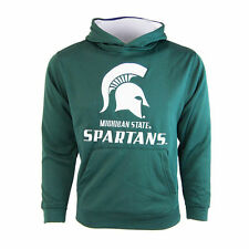 COLOSSEUM Athletics Michigan State Spartani Felpa con Cappuccio-Verde (Gioventù M)