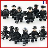 12PCS Lego Swat Police Militaire Intervention Armée Soldat Enfant Jouet Bricks